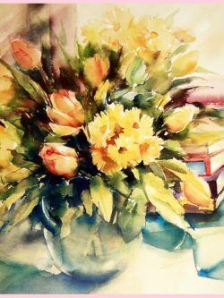 Арт.25825 Ваза с цветами
