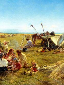 Арт.26411 Маковский. Крестьянский обед в поле