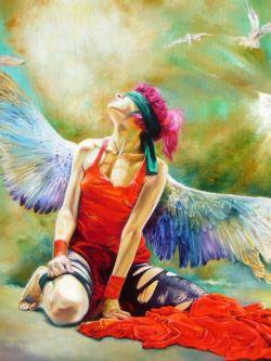Арт.32705 Влодзимеж Куклински. Девушка-ангел