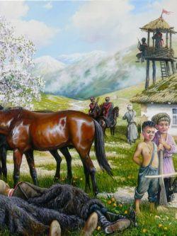 Арт.32900 Андрей Лях. Спящие казаки