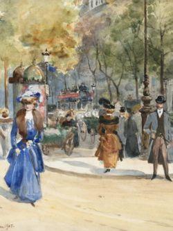 Арт.31036 Анна Пальм де Роса. Бульвар в Париже
